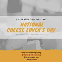VIP Special ~ National Cheese Lover's Day